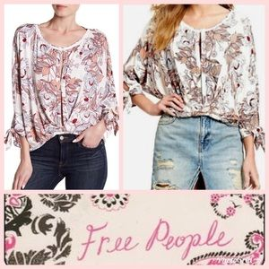Free people keeping it tie peasant blouse